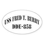 USS FRED T. BERRY Sticker (Oval)