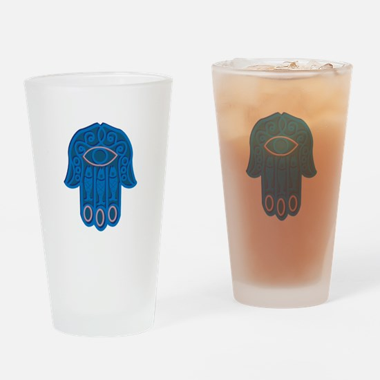 Hamsa Symbol Drinking Glass