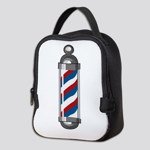 Barber Pole Neoprene Lunch Bag