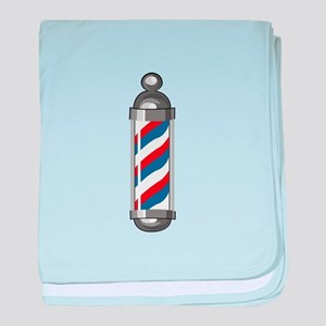 Barber Pole baby blanket