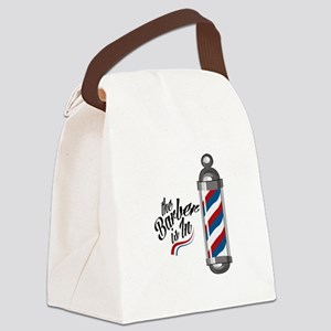 Barber Is In Canvas Lunch Bag