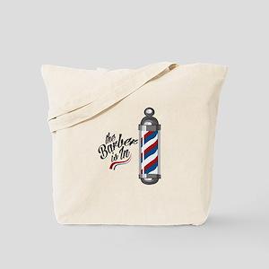Barber Is In Tote Bag
