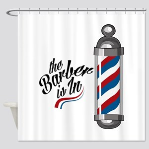 Barber Is In Shower Curtain