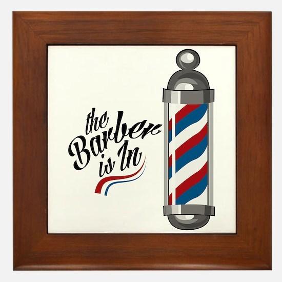 Barber Is In Framed Tile