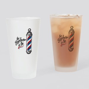 Barber Is In Drinking Glass