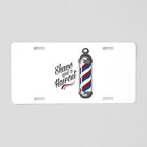 Shave & Haircut Aluminum License Plate