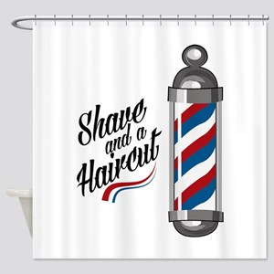 Shave & Haircut Shower Curtain