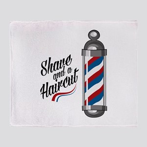 Shave & Haircut Throw Blanket
