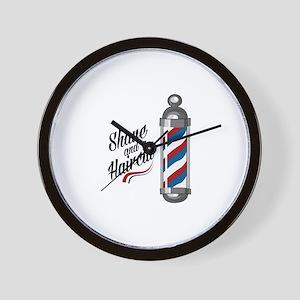 Shave & Haircut Wall Clock