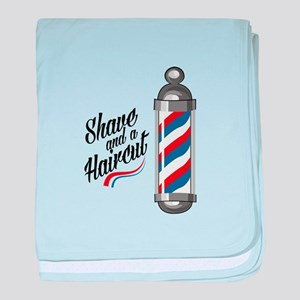 Shave & Haircut baby blanket