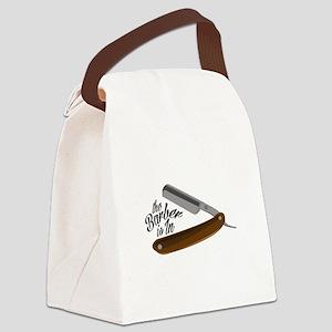 Barber Razor Canvas Lunch Bag