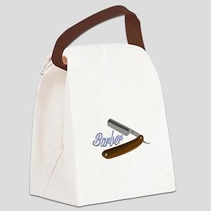Barber Shave Canvas Lunch Bag