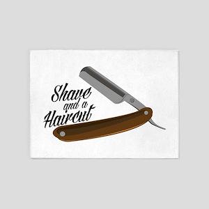 Shave Razor 5'x7'Area Rug