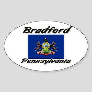 Bradford Pennsylvania Oval Sticker