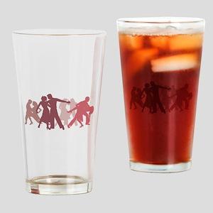 Latin Dancers Illustration Drinking Glass
