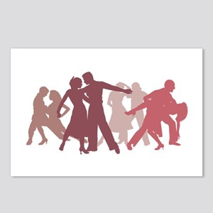 Latin Dancers Illustratio Postcards (Package of 8)