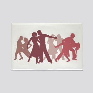 Latin Dancers Illustration Magnets