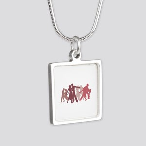 Latin Dancers Illustration Necklaces