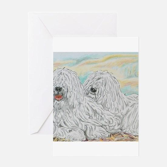 Komondors Greeting Cards