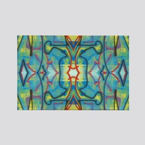 Abstract Reflection Rectangle Magnet
