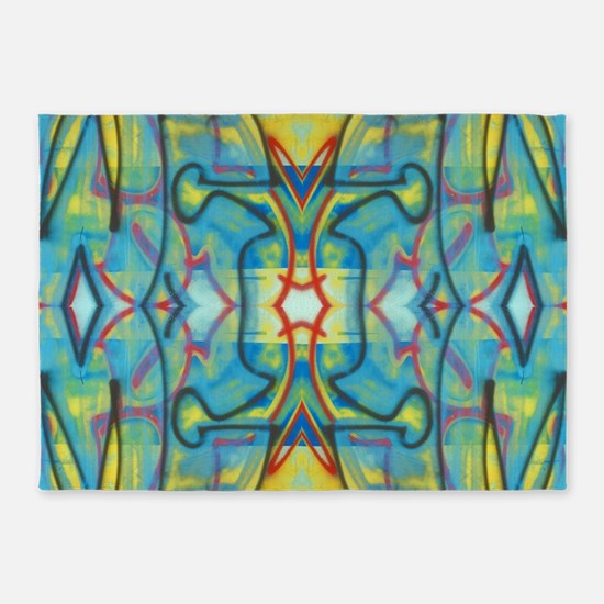 Abstract Reflection 5'x7'Area Rug