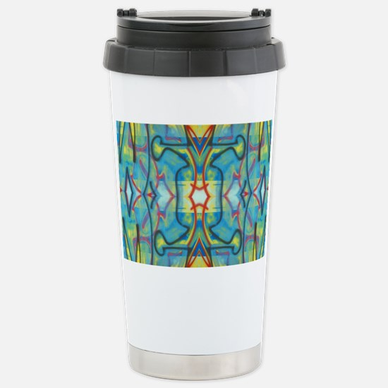 Abstract Reflection Stainless Steel Travel Mug