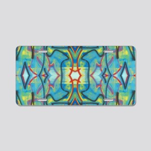 Abstract Reflection Aluminum License Plate