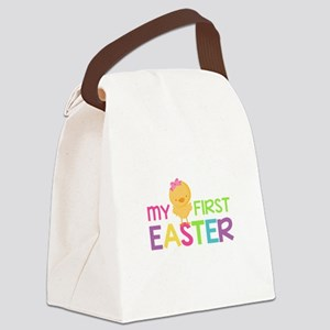 My First Easter Chick Girls Canvas Lunch Bag