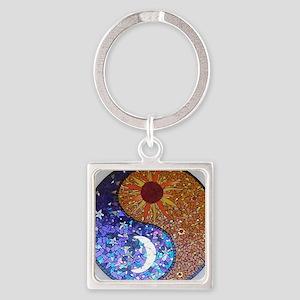 Mosaic Sun & Moon Square Keychain