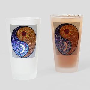 Mosaic Sun & Moon Drinking Glass