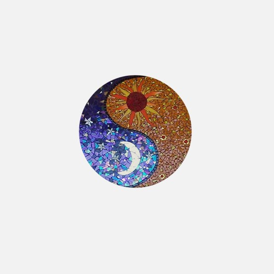 Mosaic Sun & Moon Mini Button