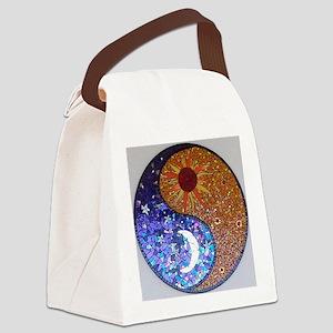 Mosaic Sun & Moon Canvas Lunch Bag