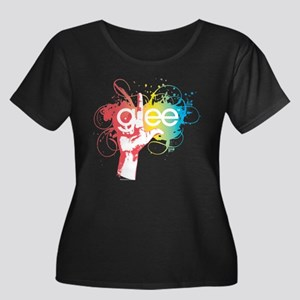 Glee Spl Women's Plus Size Scoop Neck Dark T-Shirt