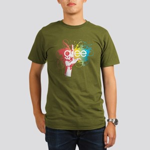 Glee Splatter Organic Men's T-Shirt (dark)