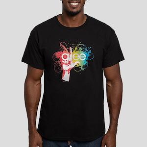 Glee Splatter Men's Fitted T-Shirt (dark)
