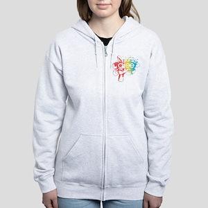Glee Splatter Women's Zip Hoodie
