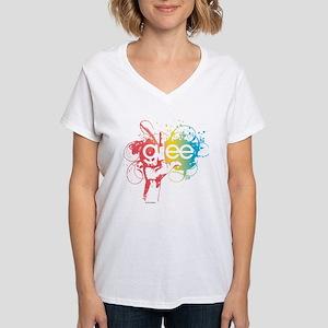 Glee Splatter Women's V-Neck T-Shirt