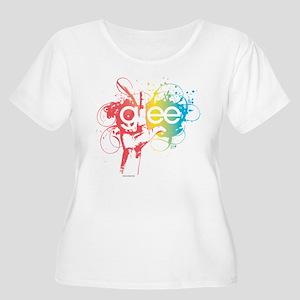 Glee Splatter Women's Plus Size Scoop Neck T-Shirt