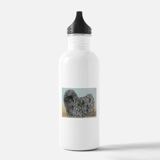 Black Puli (summer) Water Bottle