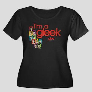 Glee Pho Women's Plus Size Scoop Neck Dark T-Shirt