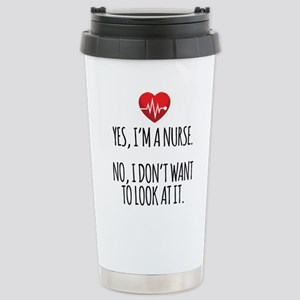 Yes I'm a Nurse Stainless Steel Travel Mug