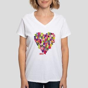 Glee Heart Women's V-Neck T-Shirt