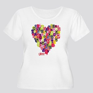 Glee Heart Women's Plus Size Scoop Neck T-Shirt