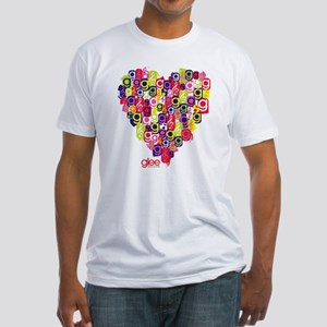 Glee Heart Fitted T-Shirt