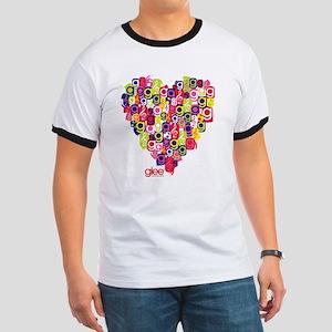 Glee Heart Ringer T