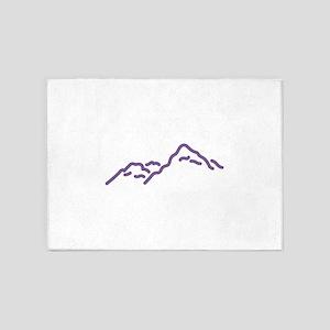 Mountain Range 5'x7'Area Rug