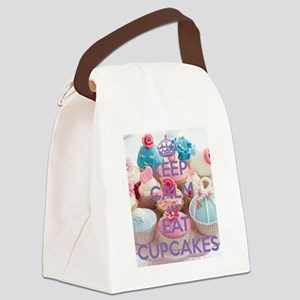 Keep Calm and Eat Cupcakes Canvas Lunch Bag