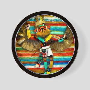 EAGLE DANCER KACHINA Wall Clock