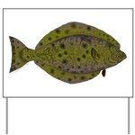Pacific Halibut Yard Sign