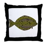 Pacific Halibut Throw Pillow